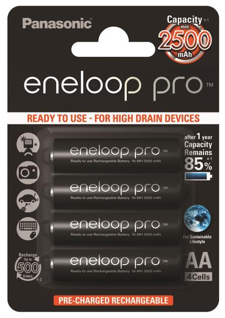 Panasonic Eneloop Pro R6/AA 2500mAh, 4 ks, Box