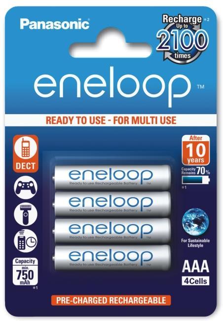 Panasonic Eneloop R03/AAA 750mAh, 4 ks, Box