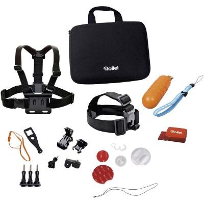 Rollei sada příslušenství pro vodní sporty/ 22ks pro kamery ROLLEI a GoPro