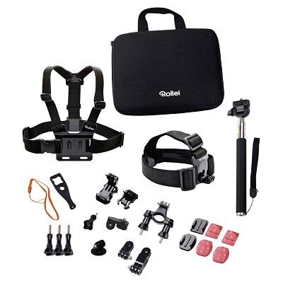 Rollei sada příslušenství pro outdoor/ 23ks pro kamery ROLLEI a GoPro