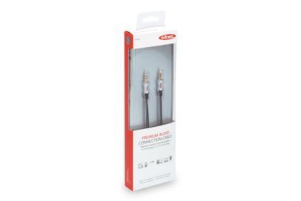 EDNET Audio MiniJack stereo Connection Cable 3.5mm (plug)/3.5mm (plug) 1,5m grey