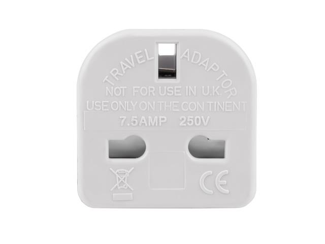 Natec EU(M)/UK(F) travel adapter