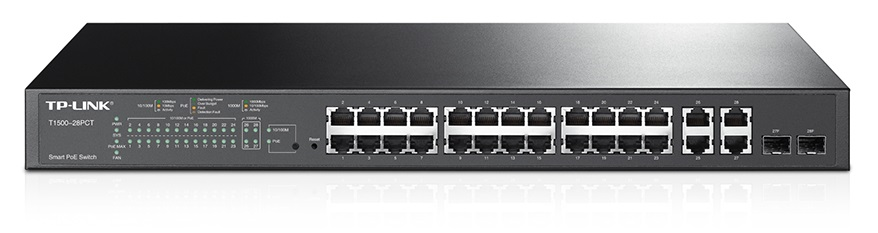 TP-Link T1500-28PCT 24x100Mbps+4xGb+2xSFP S.Switch
