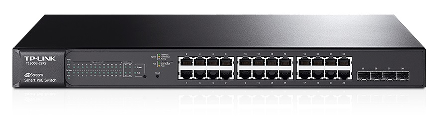 TP-Link T1600G-28PS 24xGb L2 Switch, 4 SFP,PoE