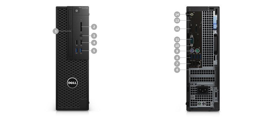 DELL Precision T3420 i7-6700/16GB/256GB/1TB/2GB Quadro K620/DVDRW/klávesnice+myš/Win 7 Pro