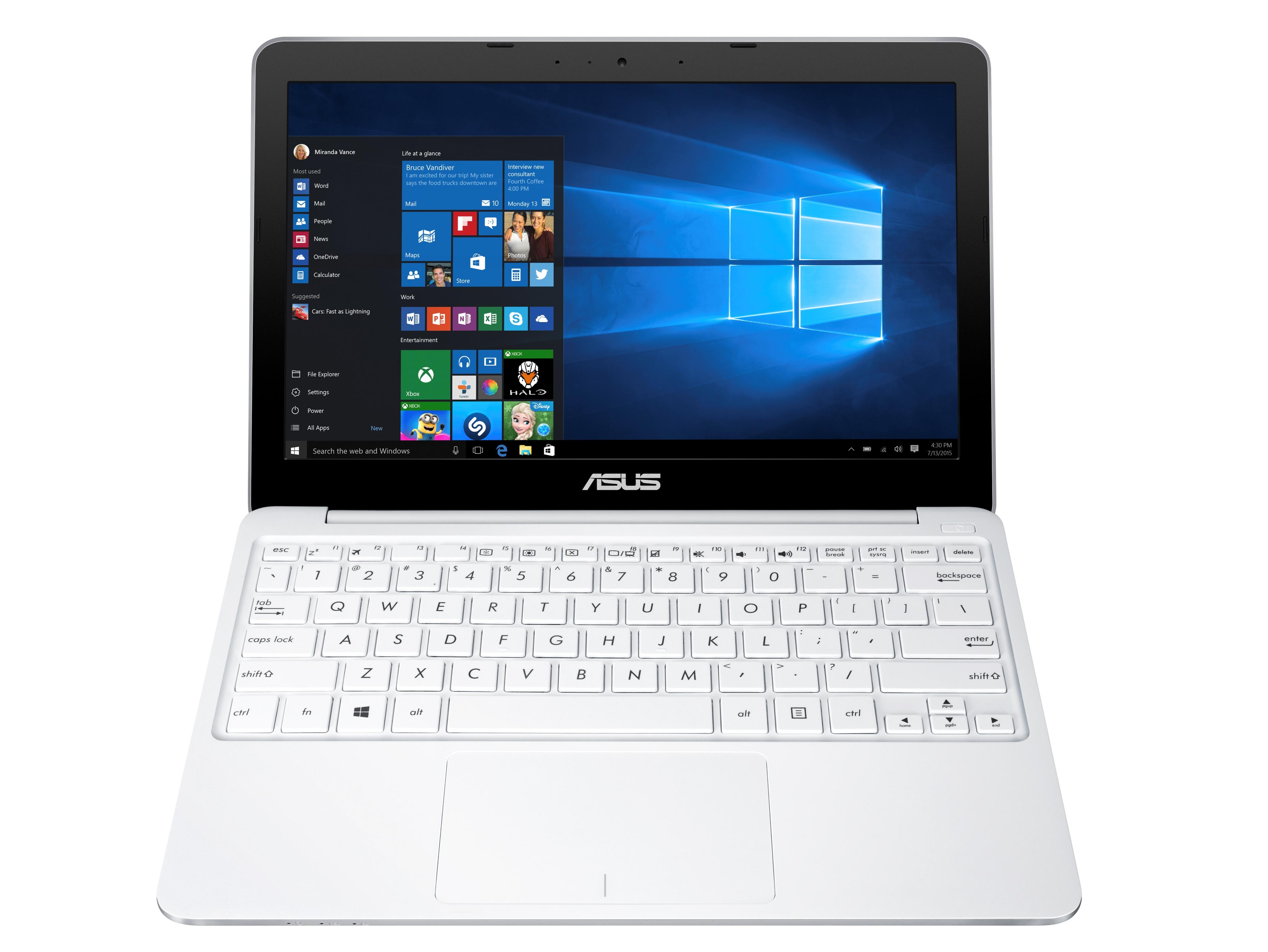 """ASUS E200HA-FD0005TS x5-Z8300/2GB/32G EMMC/ 11,6"""" HD/Win10/bílý"""