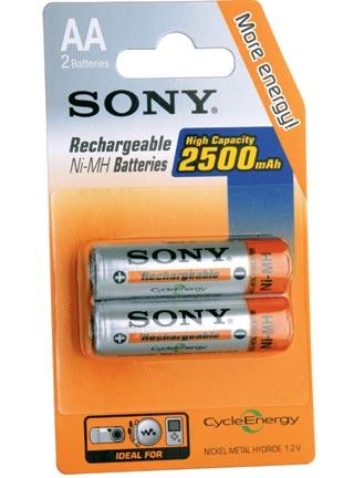 SONY NH-AAB2GN - NiMH nabíjecí baterie AA / 2500 mAh / 2 ks v blistru