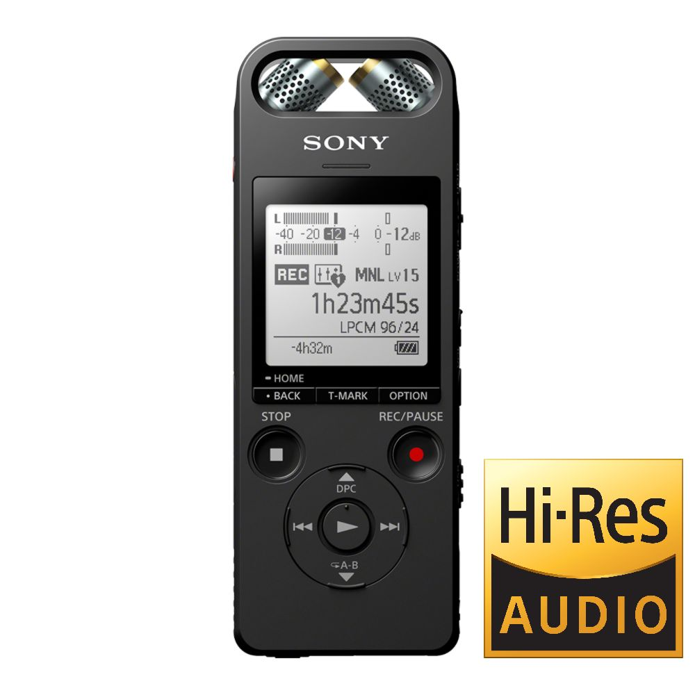 SONY Digitální diktafon s dálkovým ovládáním Bluetooth®, Hi-res ICD-SX2000 - 16GB