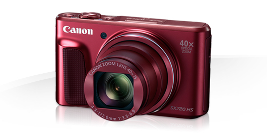 Canon PowerShot SX720HS, Red - 20MP, 40x zoom, 24-960mm, 3,0""