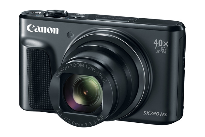 Canon PowerShot SX720HS, Black - 20MP, 40x zoom, 24-960mm, 3,0""