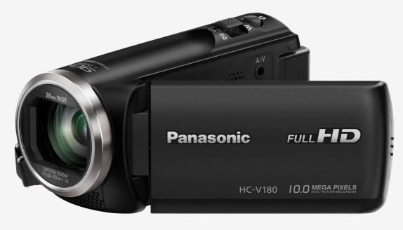 """Panasonic HC-V180EP-K, 1/5,8"""" BSI 2.2Mpx, 50x zoom 28mm, 5-osý OIS, černá"""