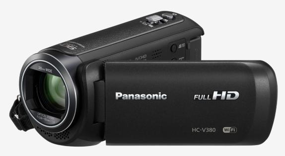 """Panasonic HC-V380EP-K, 1/5,8"""" BSI 2.2 Mpx, 50x zoom, 28mm, 5-osý OIS, WiFi, černá"""