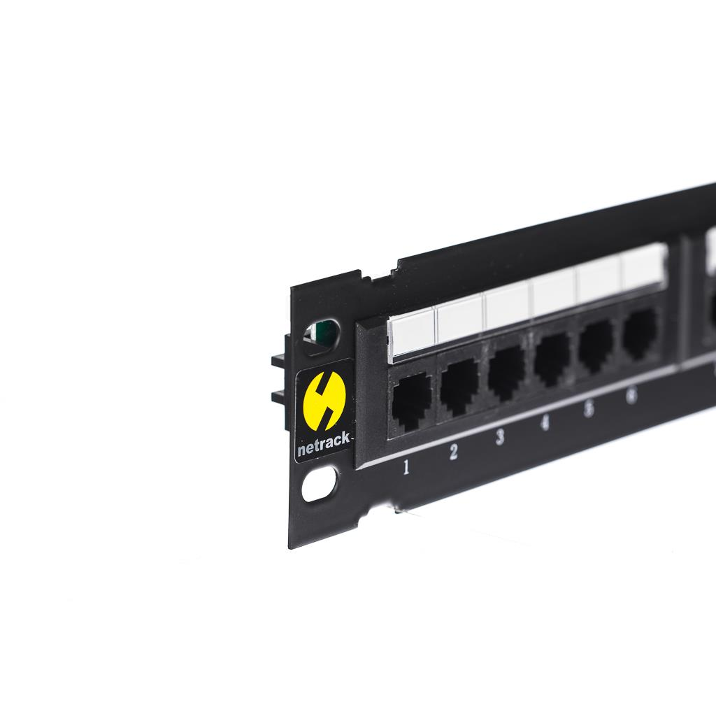 Netrack patch panel 10'' 12 portů cat. 5e UTP LSA